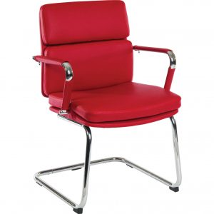 Aspen Cantilever Office Chair Faux Leather 2