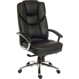 Bromley Luxury Leather Office Chair Black