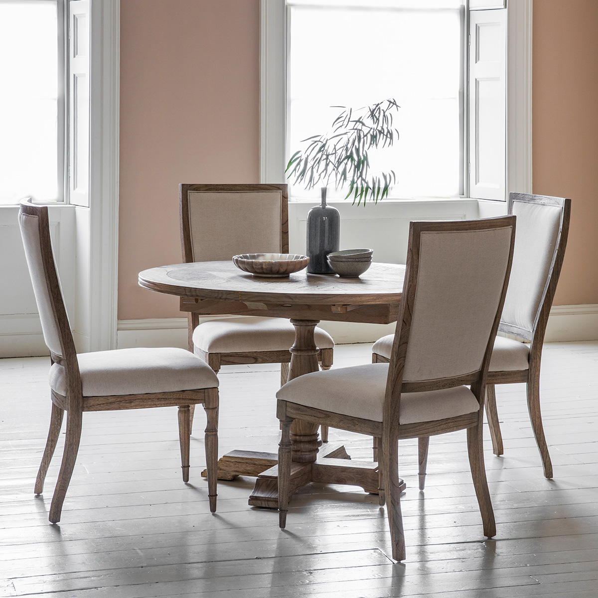 French Colonial Round Extending Dining