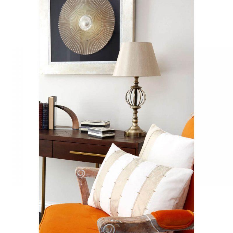 Baroque armchair & footstool burnt orange velvet at FADS.co.uk