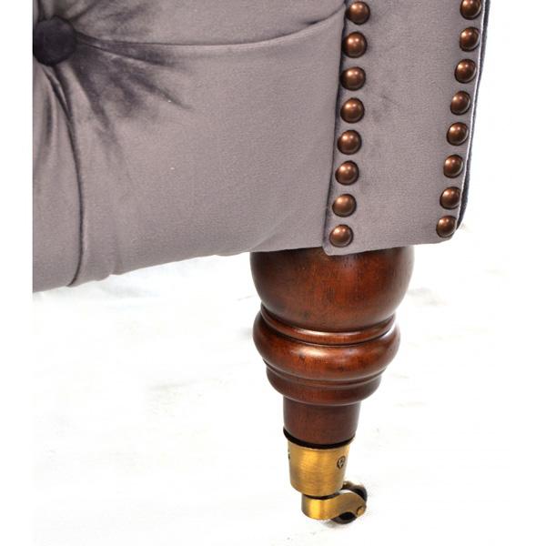 Chatsworth Snuggler Armchair Velvet Chesterfield | FADS