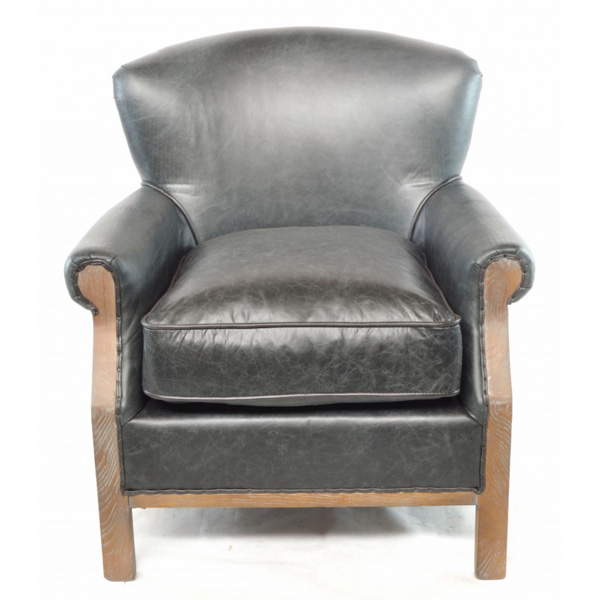 Farley-armchair-leather-with-hessian-back---black-2