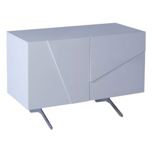 Glacier white high gloss 2 door sideboard media cabinet unit FADS Furniture & Design Studio Gillmore Space