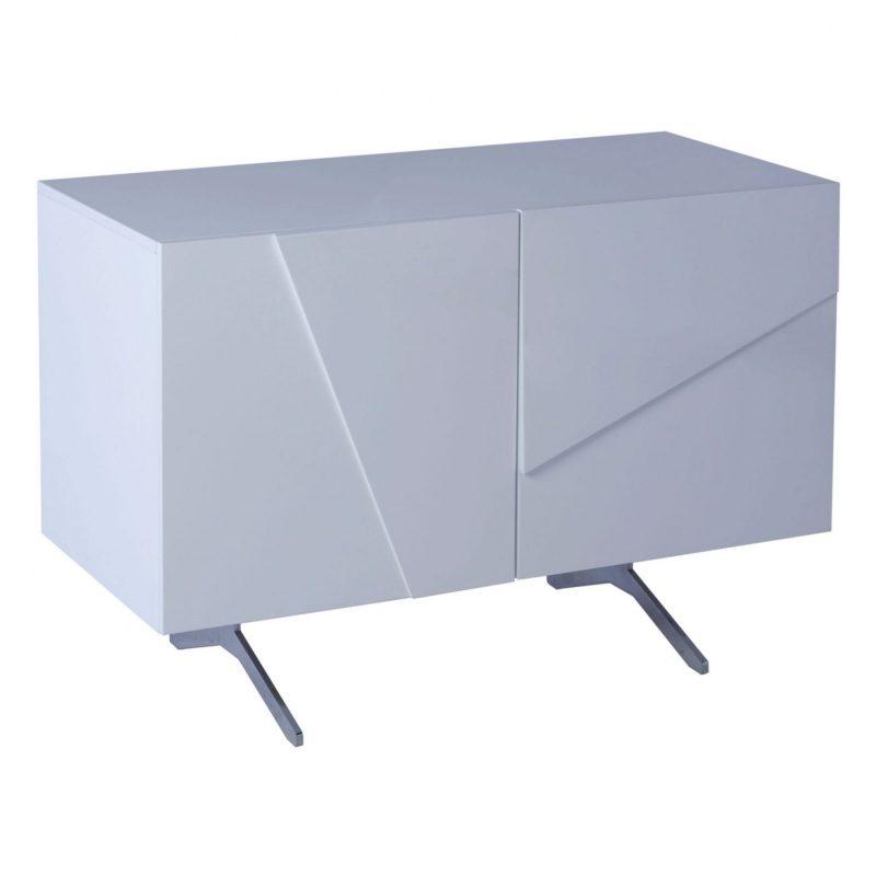 Glacier white high gloss 2 door sideboard media cabinet unit FADS Furniture & Design Studio Gillmore Space