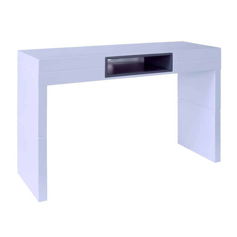 High-console-table---Savoye-WHITE-with-GRAPHITE-accent