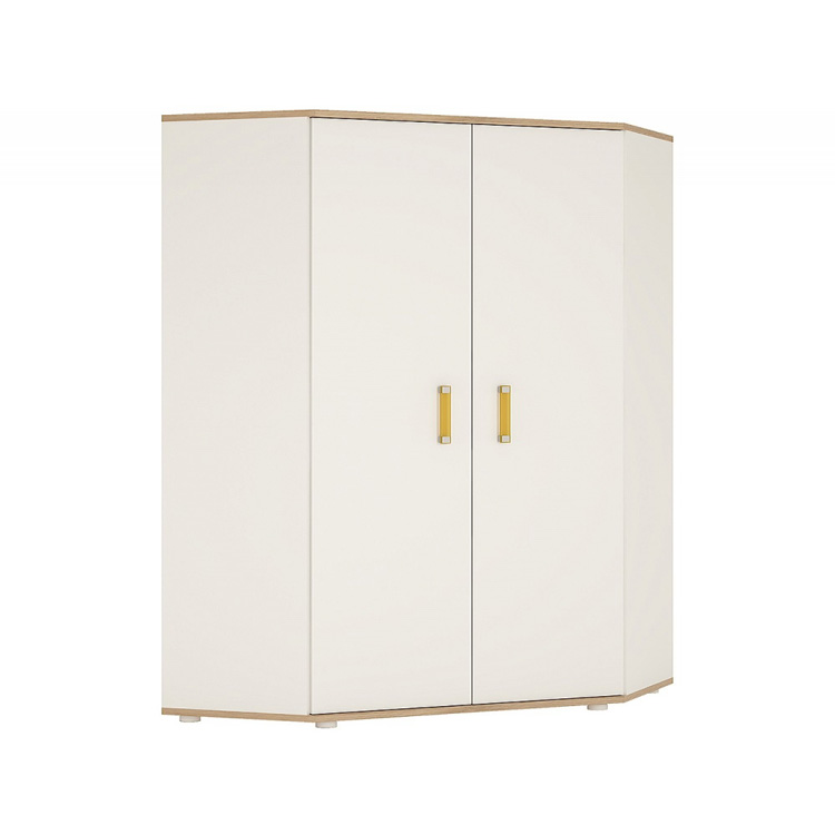 Ikids-corner-wardrobe-white-with-orange-handles