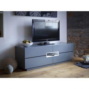 Matt graphite grey tv media unit Low-TV-sideboard---Savoye-GRAPHITE-with-WHITE-accent-5