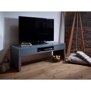 Matt graphite grey Low-TV-stand--table---Savoye-GRAPHITE-with-GRAPHITE-accent-2