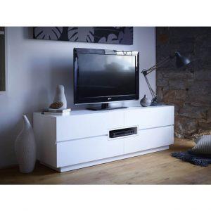 matt white tv media unit Modern-White-Low-TV-Sideboard---Savoye-WHITE-with-WHITE-accent-5