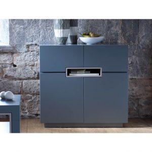 Matt graphite grey Tall-sideboard---Savoye-GRAPHITE-with-STONE-accent-2