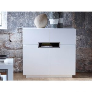 Matt white Tall-sideboard---Savoye-WHITE-with-STONE-accent-4