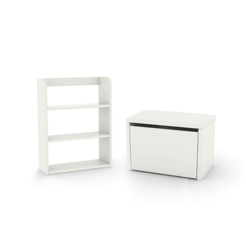 flexa-bundle-bench-bookcase-white
