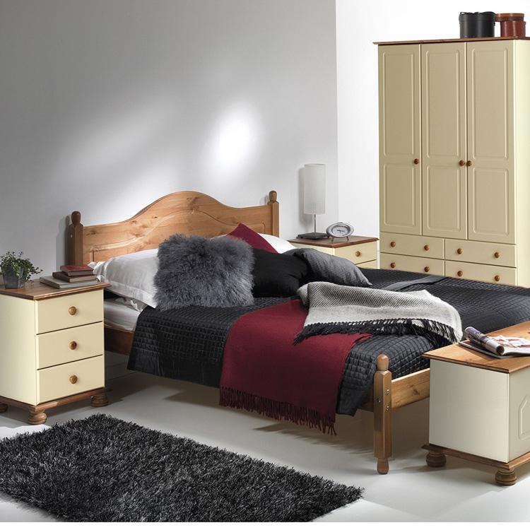 copenhagen cream and pine bedroom set
