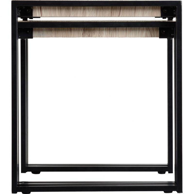 Warwick-nest-of-tables-oak-effect-side-profile