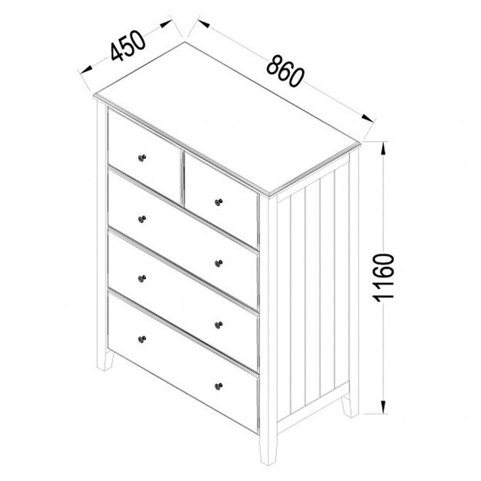 Holly Children's Chest of Drawers Dimensions