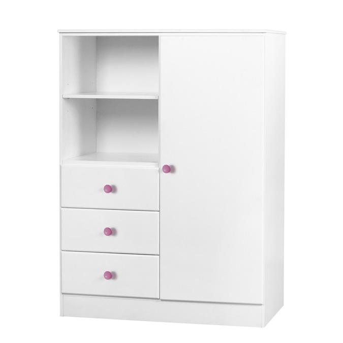 childrens-wardrobe-single-door-pink-handles-willow-1