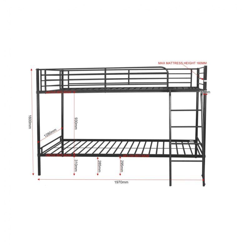 Brandon_3ft_bunk_bed_dimensions