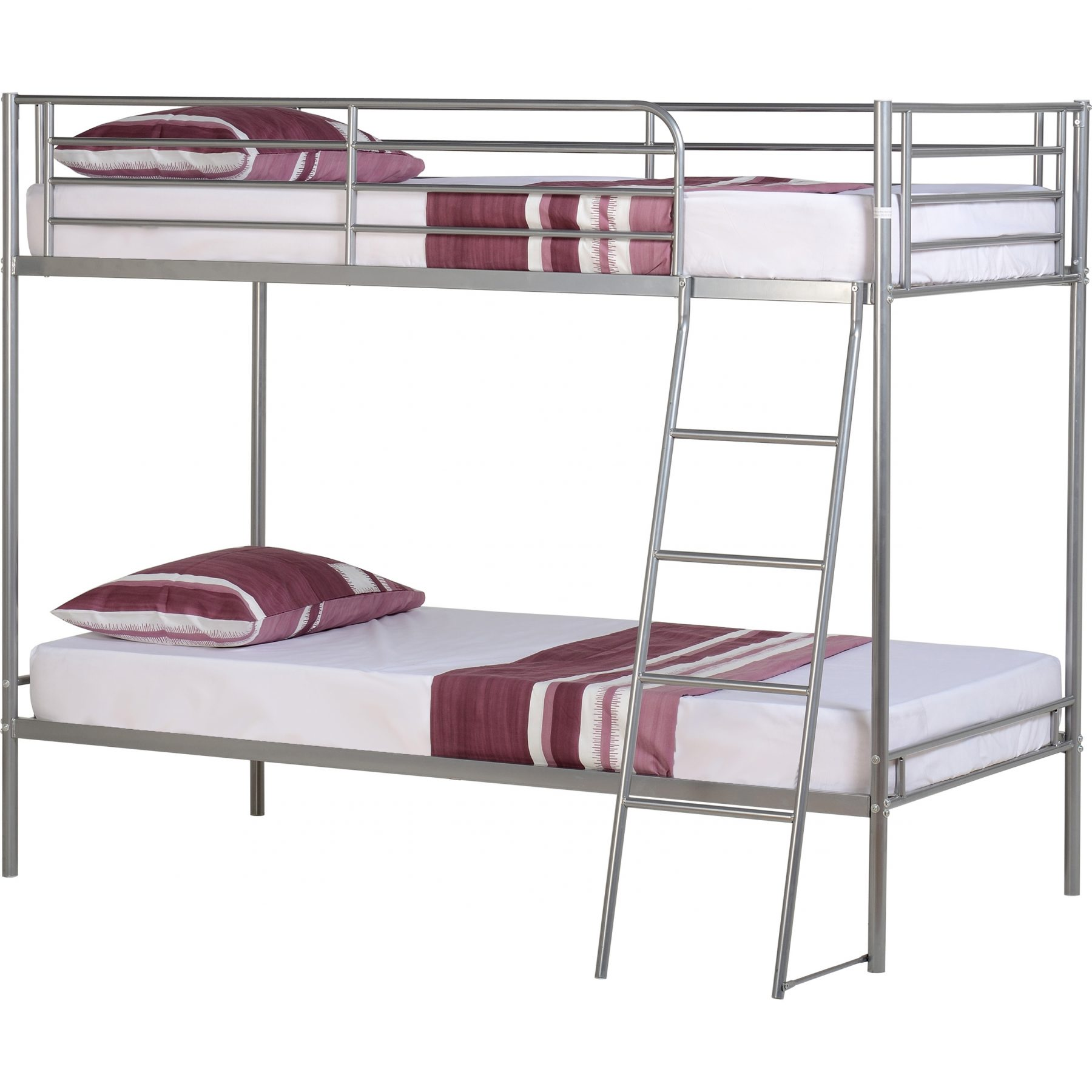 Picture of: Brandon Bunk Bed 3 Single Black Or Silver Fads