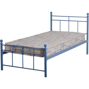 Callum Blue Single Bed Frame