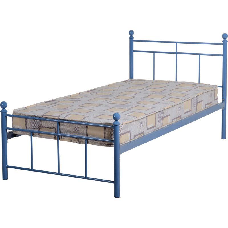 Callum Blue Single Bed Frame