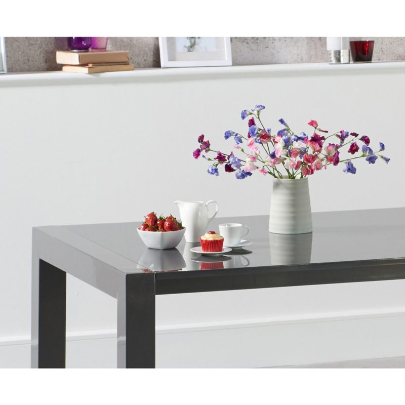 Henry extending dark grey high gloss dining table 174-264 cm