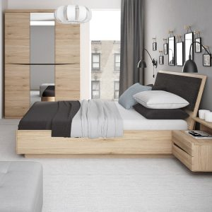 Metro-2-drawer-bedside-oak-left-hand-room-set - Copy
