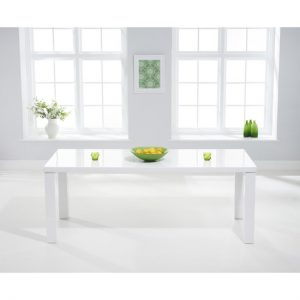 Luna white gloss dining table rectangular