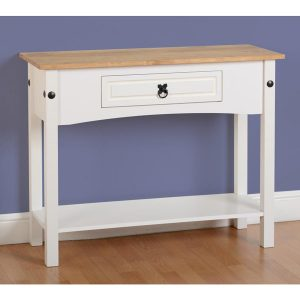 Corona White Console Table