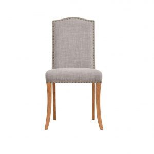 Evesham Fabric Dining Chairs Grey