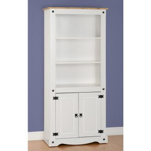 Corona White Display Bookcase