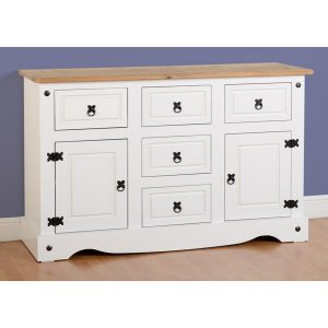 Corona White Large Sideboard