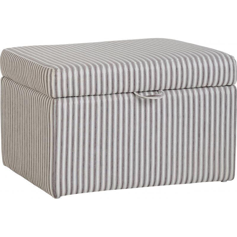 Hammond Fabric Storage Stool Brown Stripe