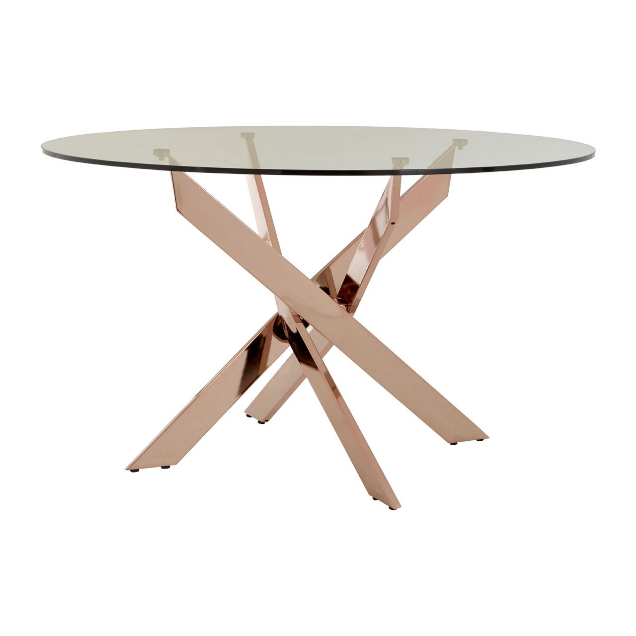 Allure Rose Gold Dining Table Round