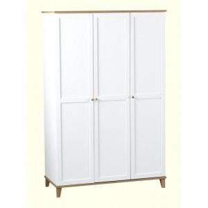 arcadia white 3 door wardrobe