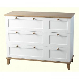 Arcadia White 3 Drawer Chest