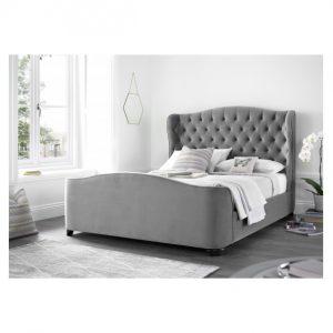 Duchess Grey Velvet Bed Frame