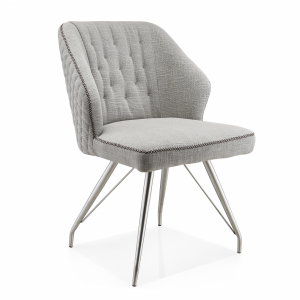 Emmett Grey Stitched Detail Dining Chair