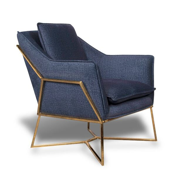 Ayden Denim Effect Lounge Chair