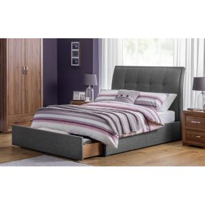 Santorini Grey Storage Bed