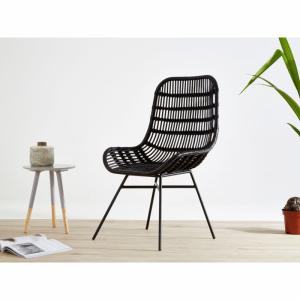 Lagom Black Rattan Chair
