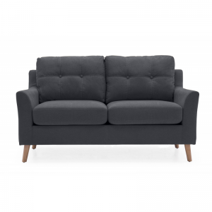 Olten Charcoal Fabric 2 Seater Sofa