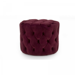 Perkins Red Velvet Footstool