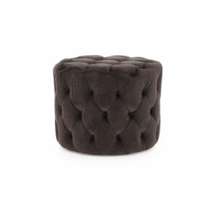 Perkins Navy Velvet Footstool