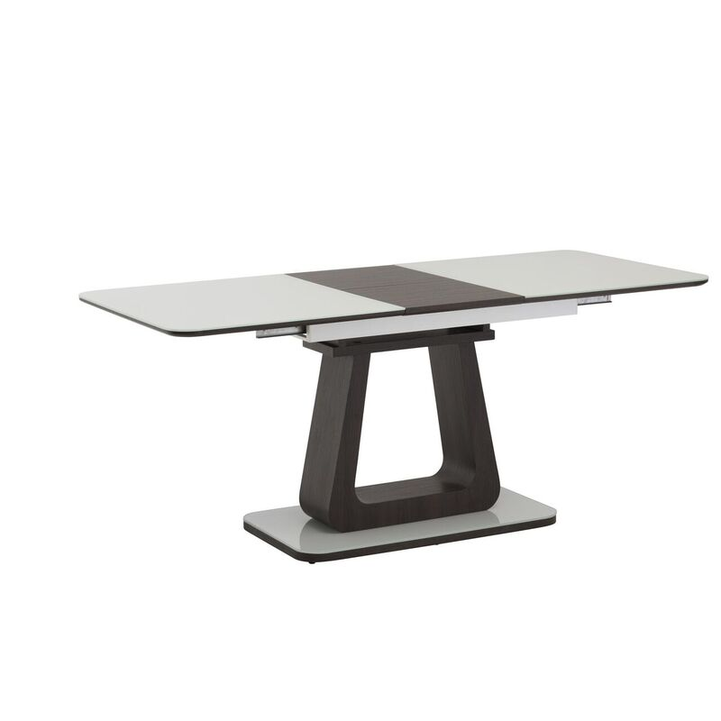 Calgary White Glass Extending Dining Table