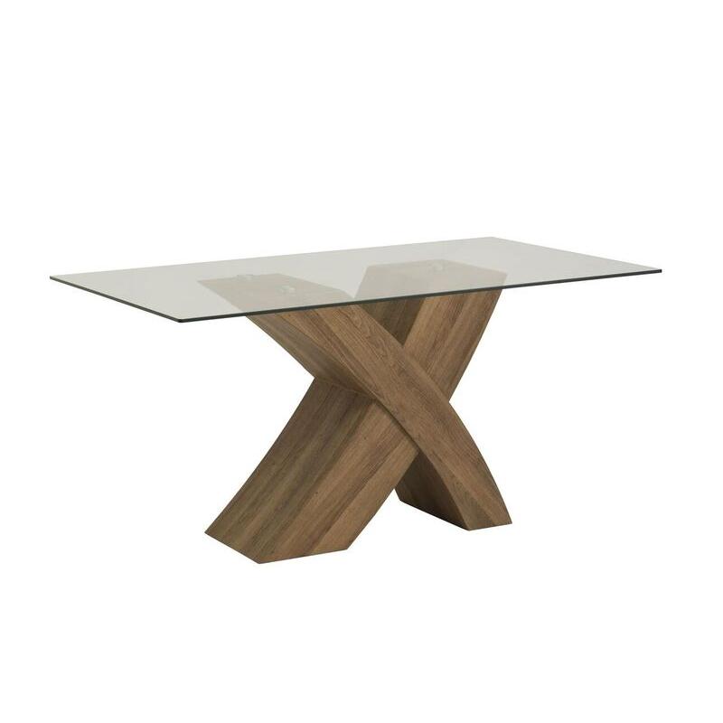 Eaton Oak Cross Leg Dining Table With