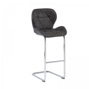 Lincoln Grey Fabric Bar Stool