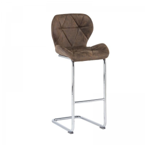 Lincoln Brown Fabric Bar Stool