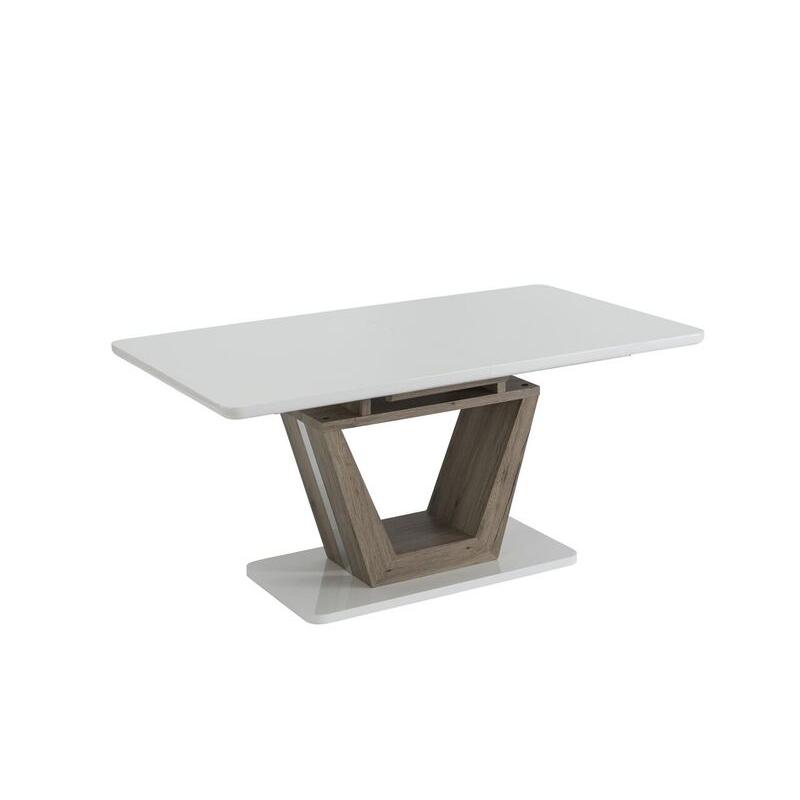 vittoria oak finish extending dining table