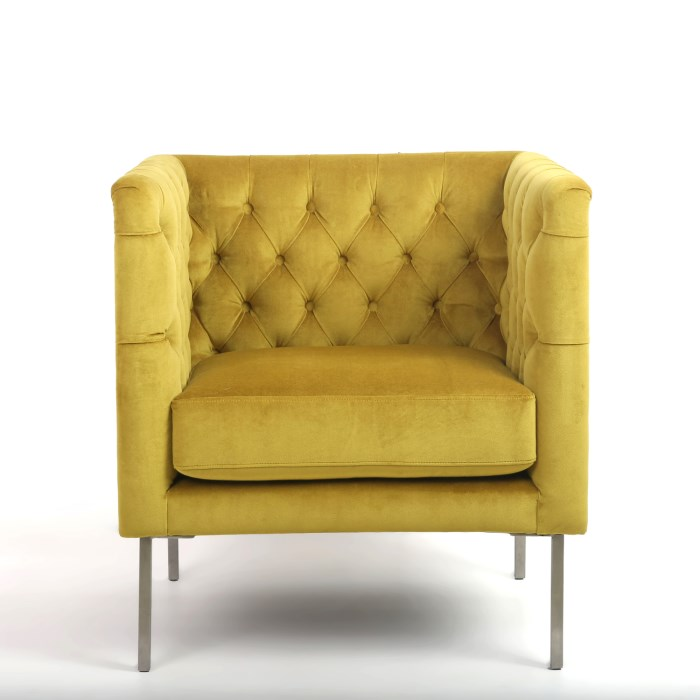 Goldenrod Brushed Velvet Armchair