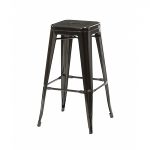 Bronx Black Metal Bar Stools